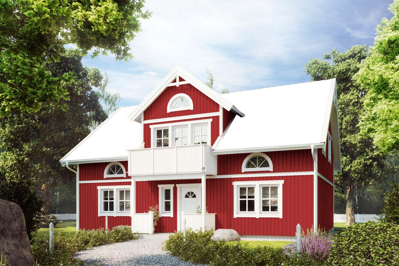 Haus farbe swalif for Schwedenhaus bauen