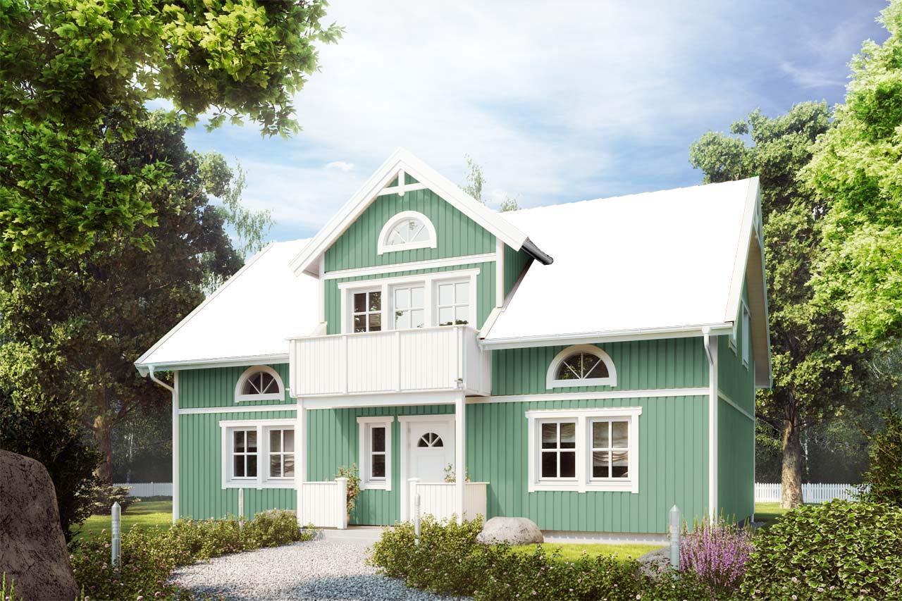 Schwedenhaus grün  Schwedenhaus bauen | Farbkonfigurator